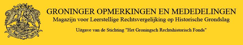 GRONINGER OPMERKINGEN EN MEDEDELINGEN online tijdschrift banner