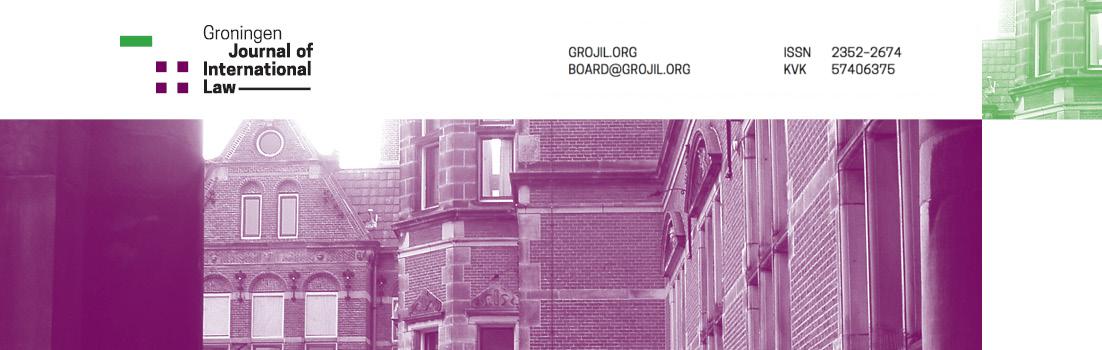 Groningen Journal of International Law